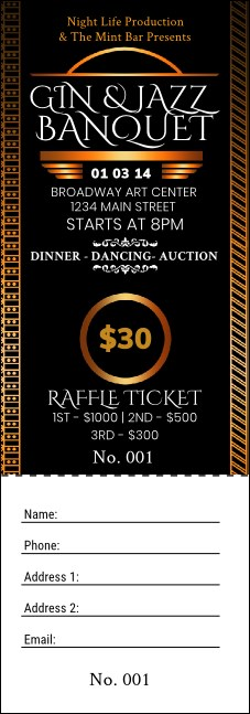 Twenties Raffle Ticket