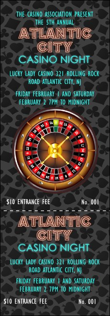 Casino Event Ticket