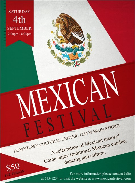 Mexican Flag Flyer