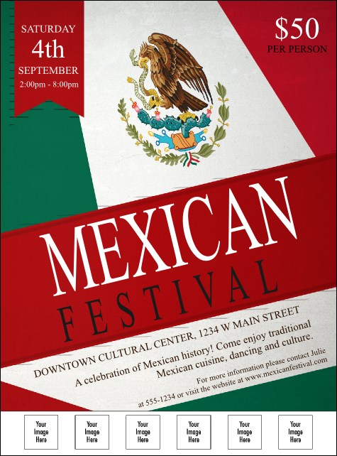 Mexican Flag Logo Flyer
