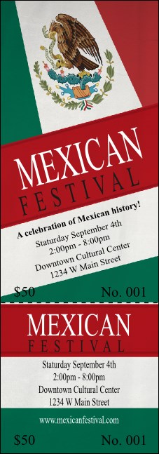 Mexican Flag Event Ticket