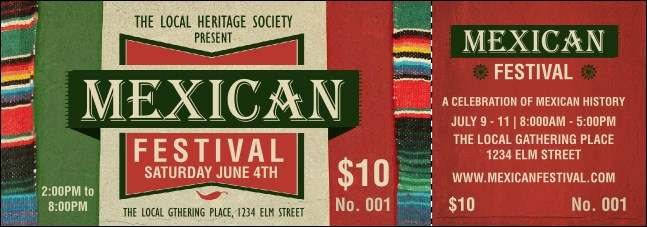 Mexican Hat Event Ticket