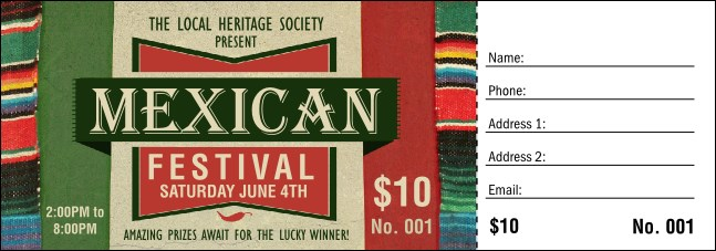 Mexican Hat Raffle Ticket