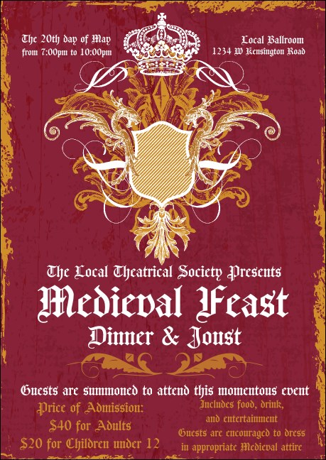Medieval Banquet Postcard Product Front