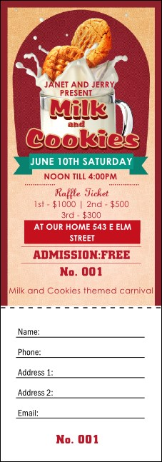 Milk & Cookies Raffle Ticket