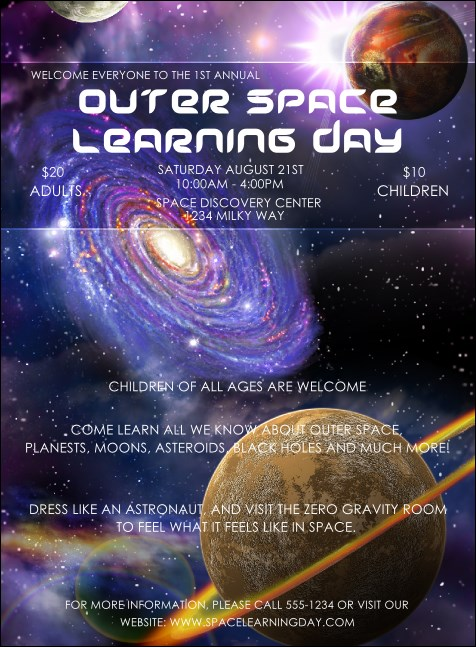 Outer Space Invitation Product Front