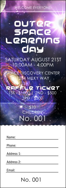 Outer Space Raffle Ticket
