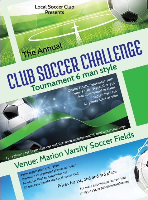 Soccer Ribbon Flyer