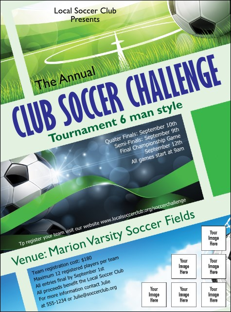 Soccer Ribbon Logo Flyer