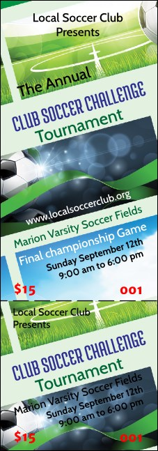 Soccer Ribbon Event Ticket