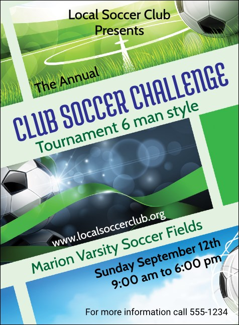 Soccer Ribbon Invitation
