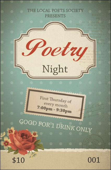 Poetry Drink Ticket