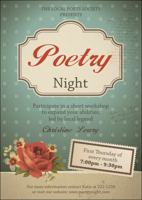 Poetry Postcard