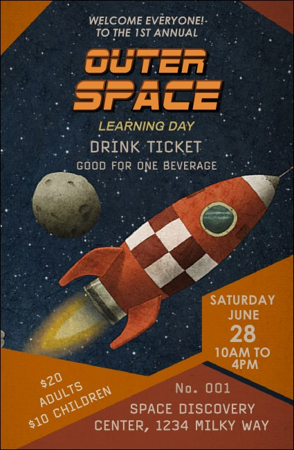 Spaceship Drink Ticket