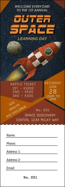 Spaceship Raffle Ticket