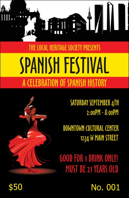 Spanish Festival Drink Ticket