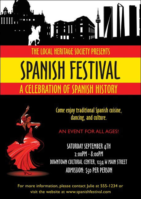 Spanish Festival Postcard Product Front
