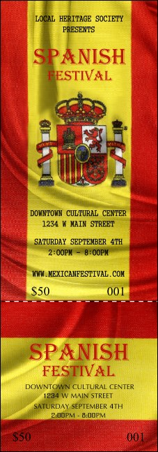 Spanish Flag Event Ticket