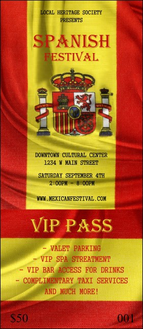 Spanish Flag VIP Pass