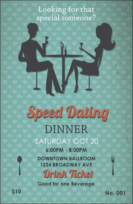 Speed Dating Drink Ticket