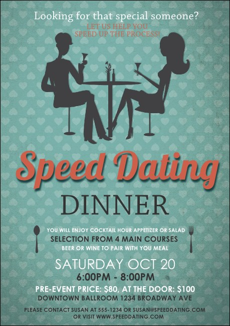 Speed Dating Postcard