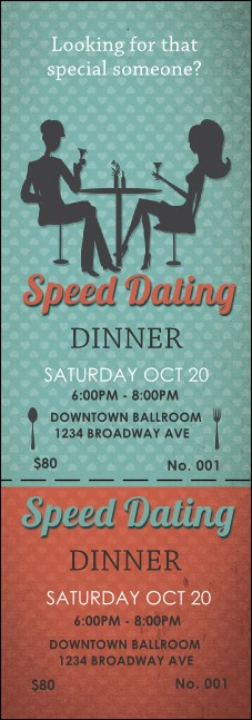 Speed Dating Event Ticket