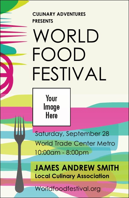 World Food Festival VIP Event Badge Small