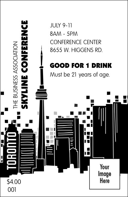 Toronto Drink Ticket (Black & white)