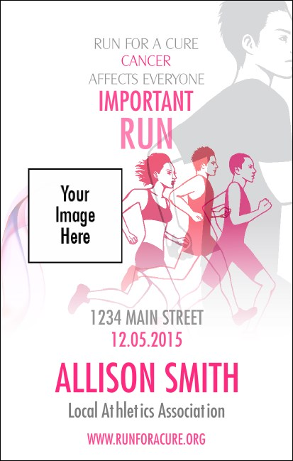 Run for a Cause  VIP Event Badge Medium