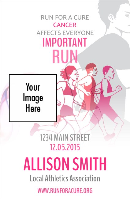 Run for a Cause  VIP Event Badge Small