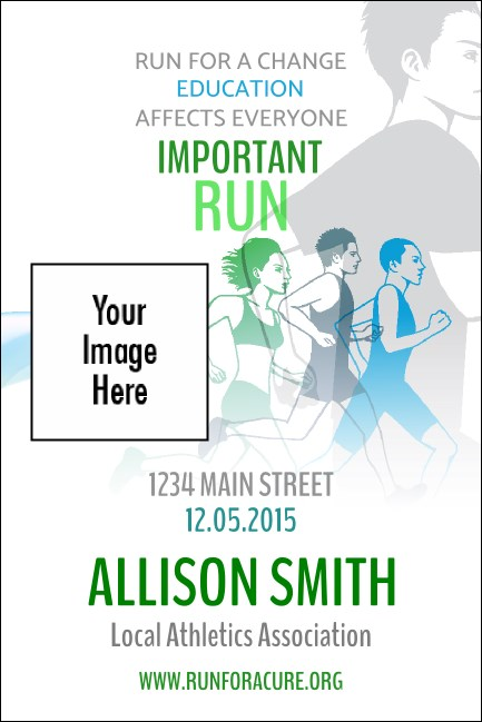 Run for a Cause (Blue-Green) Economy Event Badge