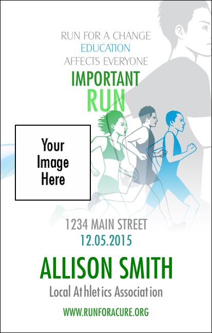 Run for a Cause (Blue-Green) VIP Event Badge Medium