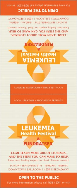 Leukemia Table Tent Product Front
