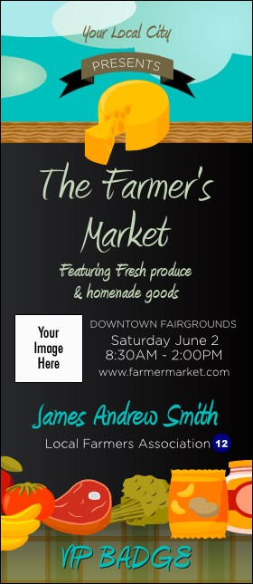 Farmer's Market VIP Event Badge Large Product Front