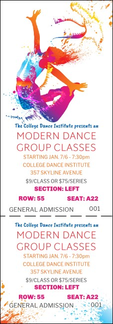 Modern Dance Reserved Event Ticket