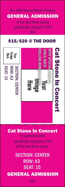 Big Logo Magenta Reserved Event Ticket