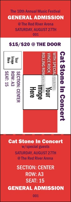Big Logo Red Reserved Event Ticket Product Front