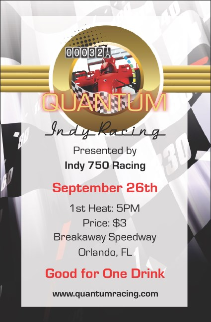Indy Racing Drink Ticket
