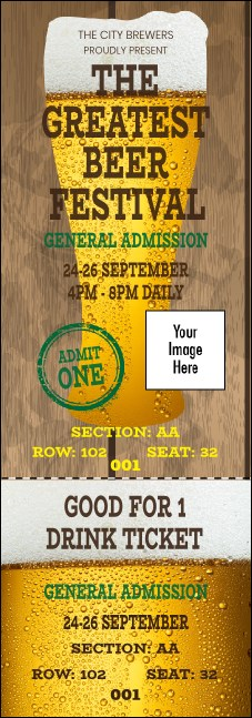 Beer Festival Reserved Event Ticket