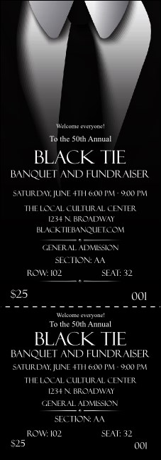 Black Tie Reserved Event Ticket