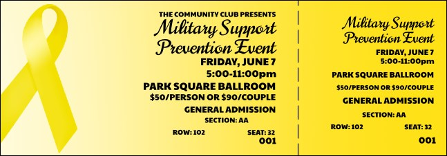 Yellow Ribbon Reserved Event Ticket