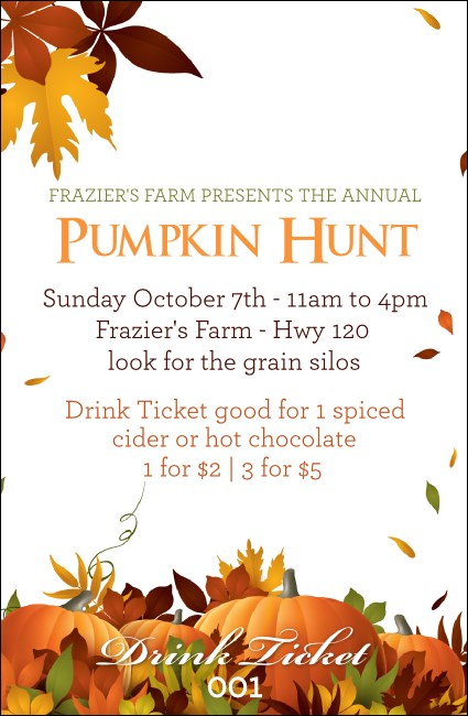 Pumpkin Patch Drink Ticket