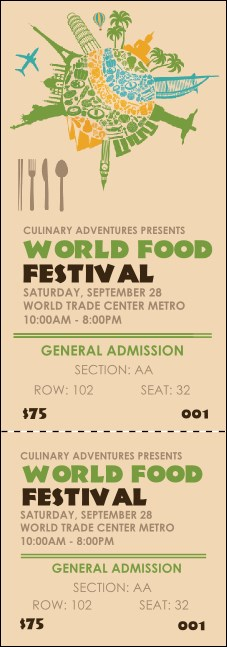 Food Festival Reserved Event Ticket