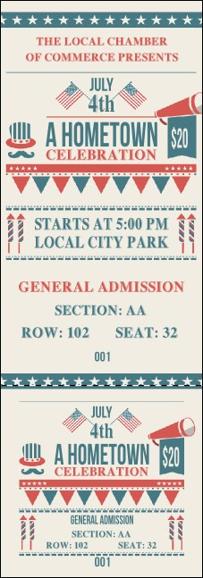 Fourth of July - Hometown Reserved Event Ticket
