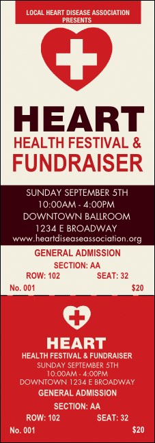 Heart Health Reserved Event Ticket