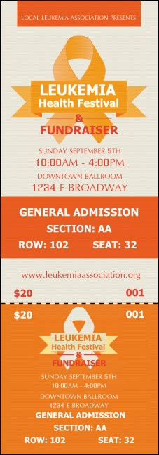Leukemia Reserved Event Ticket