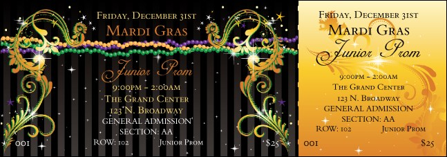 Mardi Gras Beads Reserved Event Ticket