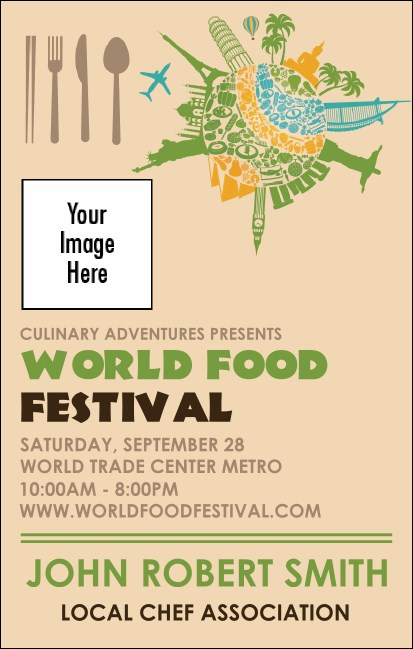 Food Festival VIP Event Badge Medium