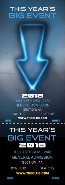 Night Club Neon Reserved Event Ticket