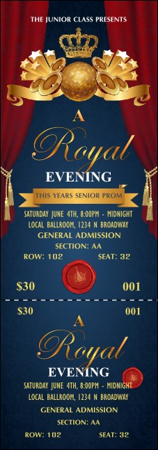 Royal Reserved Event Ticket Product Front